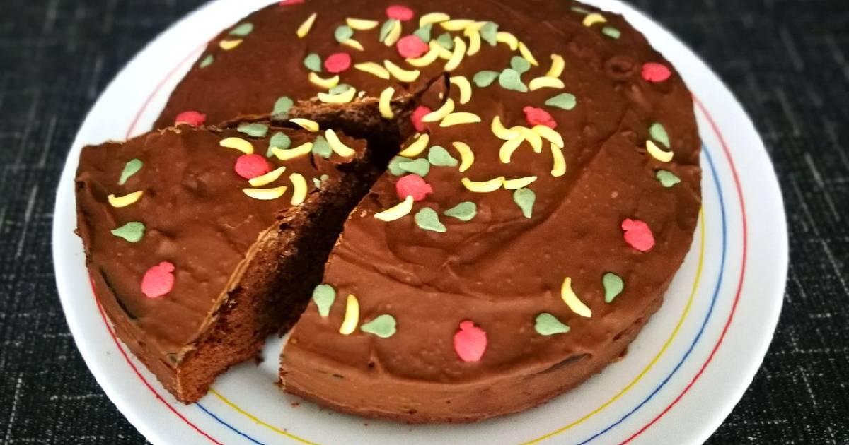 Tarta De Chocolate Milka Con Glaseo De Chocolate Receta De Cocinar Con Jorgette Cookpad