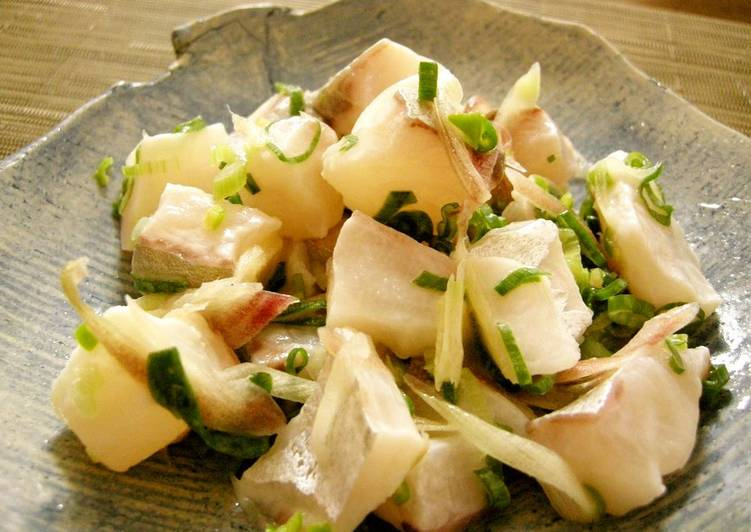 Steps to Make Speedy Japanese-Style Ceviche with Myoga Ginger