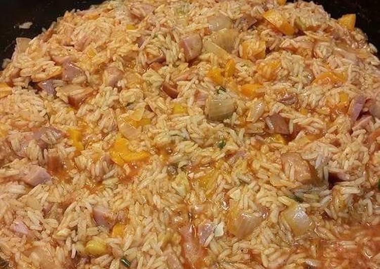 Spanish Rice With Kielbasa