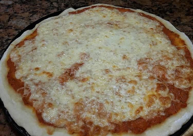 Thin Crust Mushroom Pizza