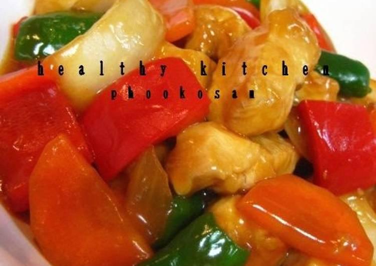 Healthy Sweet & Sour Ketchup Seasoned Chicken Breast