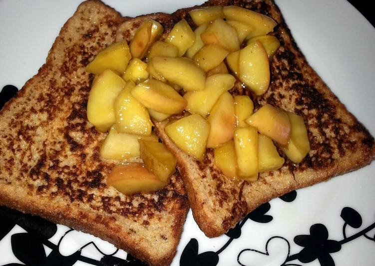 Simple Way to Prepare Perfect Cinnamon Toast with Stewed Caramel Apple