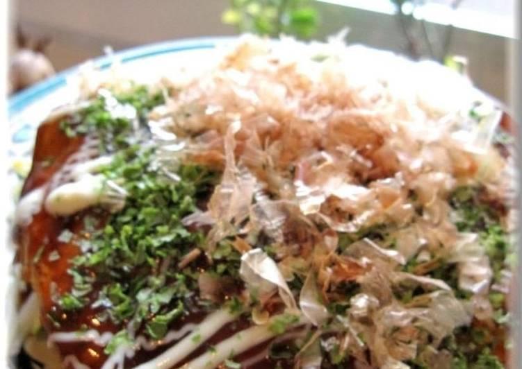 How to Prepare Top-Rated Simple Hiroshima-style Okonomiyaki in a Frying Pan
