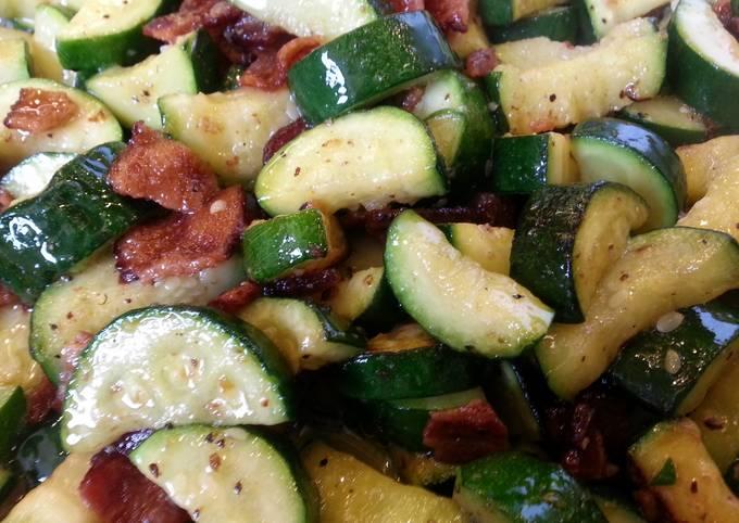 Bacon Fried Zucchini