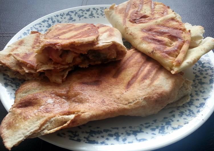 5 Minute Recipe of Love Pita bread chicken roll