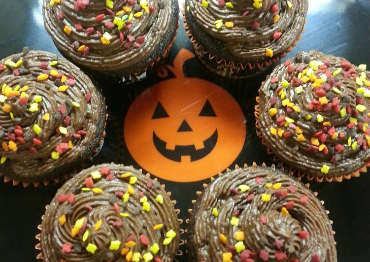 The Simplest Way to Cook Perfect Fall Chocolate Mocha Cupcakes