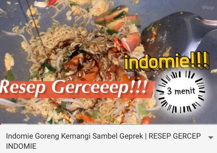Resep Indomie Goreng Kemangi Sambel Geprek Paling dicari