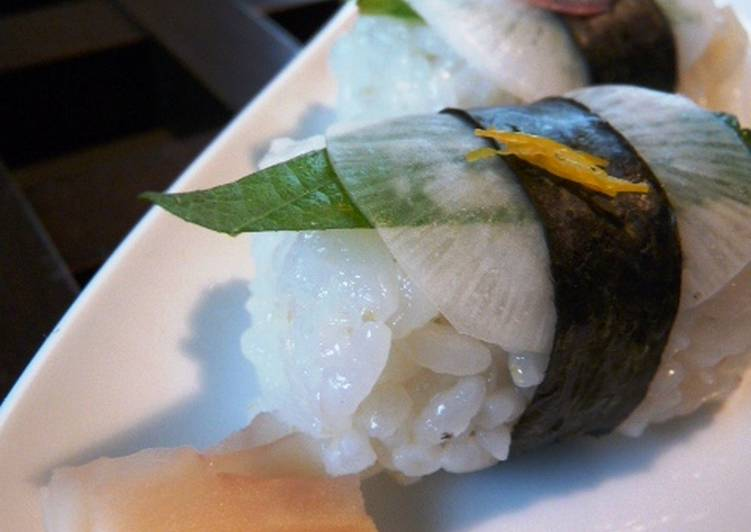 Steps to Prepare Super Quick Homemade Turnip Nigiri Sushi