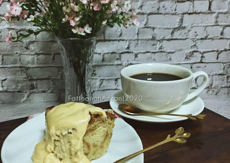 Puding Roti Wheatmeal Dengan Sos Kastard - velavinkabakery.com