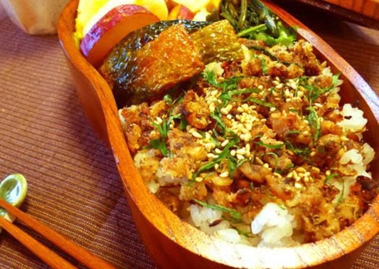 Yellowtail and Miso Soboro Bento