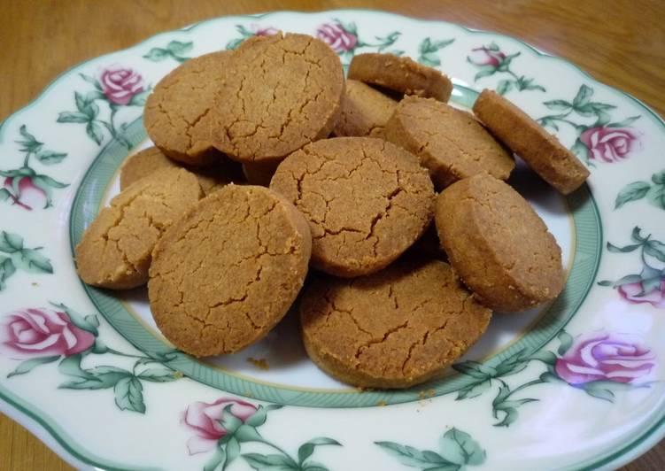Crispy Kinako and Salt Cookies