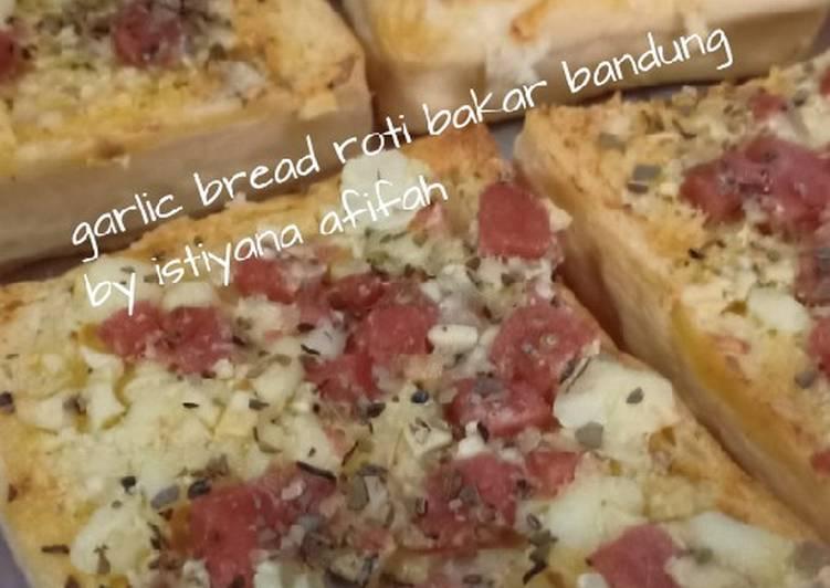Resep Garlic Bread ekonomis Bikin Jadi Laper