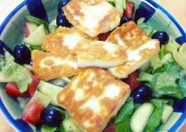 ABM's halloumi cheese salad