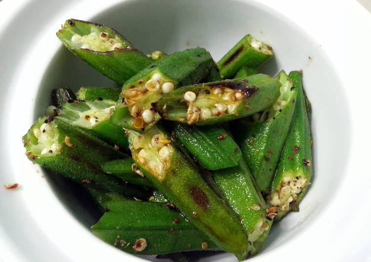 Fastest Way to Cook Yummy Okra With Sichuan Peppercorn Salt