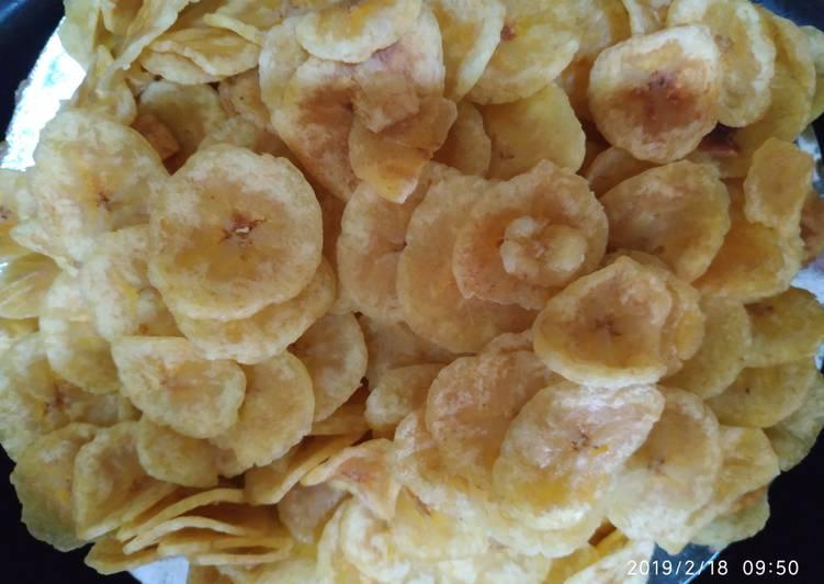 Kripik pisang renyah & gurih