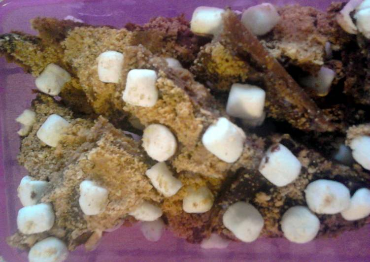 Recipe of Super Quick Homemade S'mores Toffee