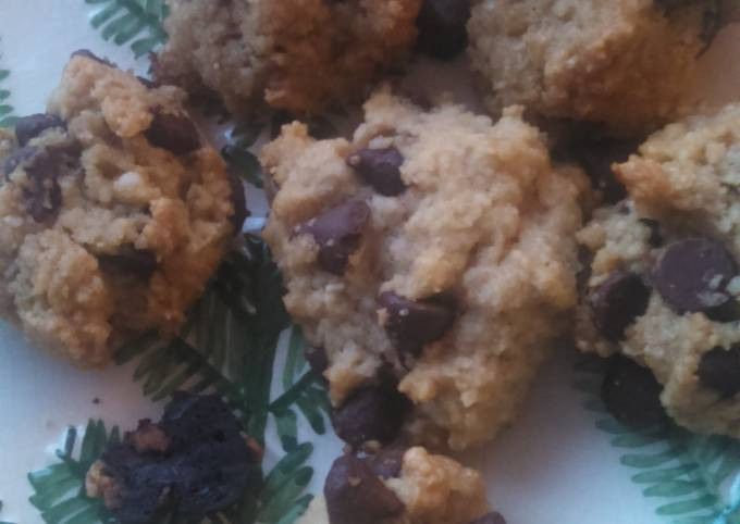 Wheat-free Almond Flour Chocolate Chip Cookies Light and Airy!