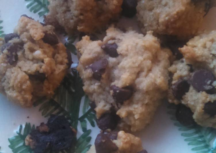 Easiest Way to Make Tasty Wheat-free Almond Flour Chocolate Chip Cookies Light and Airy!