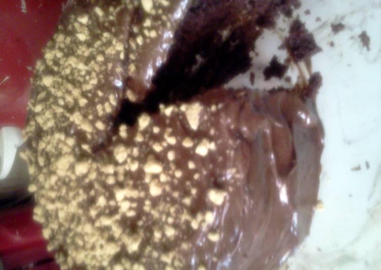 Devils food smores cake