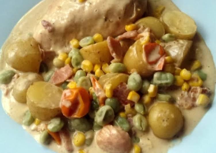 Vickys Creamy Chicken One-Pot, GF DF EF SF NF