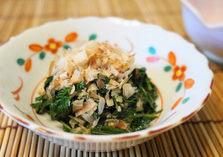 Recipe of Award-winning How to Boil Mulūkhīya for Ohitashi