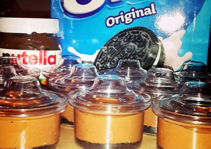 Recipe: Yummy Nutella and oreo cheesecake