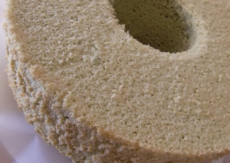 Simple Way to Make Award-winning Rice Flour Green Tea Chiffon Cake