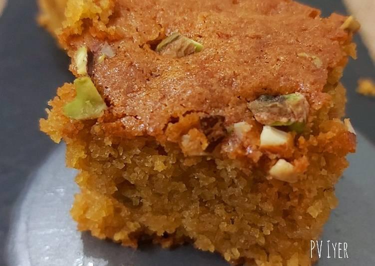 Semolina-Amaranth Flour Palm Jaggery Ghee bars