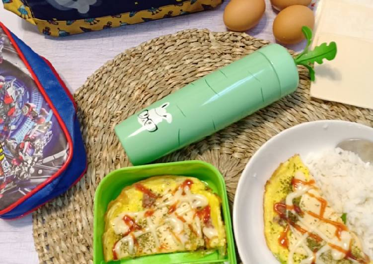 Resep Kornet Keju Dadar Telur. (Bekal sekolah anak) Paling Joss