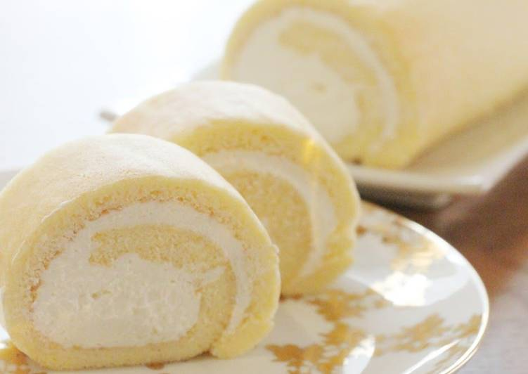 Steps to Prepare Perfect Cheese Cream Rice Flour Roll Cake