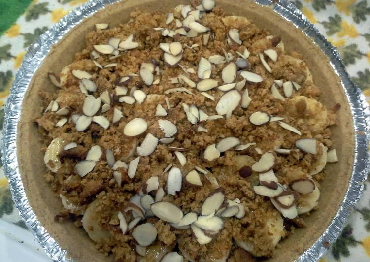 quick crunchy butterscotch banana pie