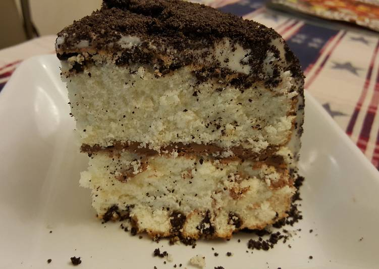 Steps to Make Top-Rated Chocolate Chip,  Hazelnut, Cookies 'n Cream Cake