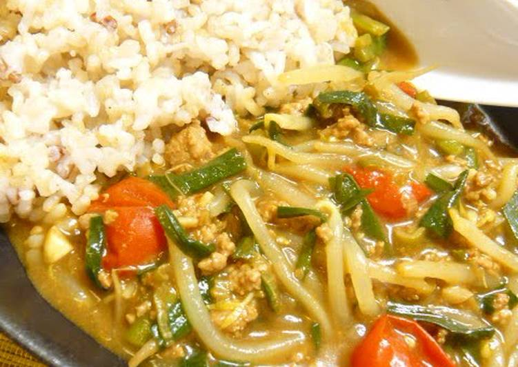 Don't Lose to the Summer! Chinese and Bean Sprouts Nutritional Curry Deciding on Healthy and balanced Fast Food