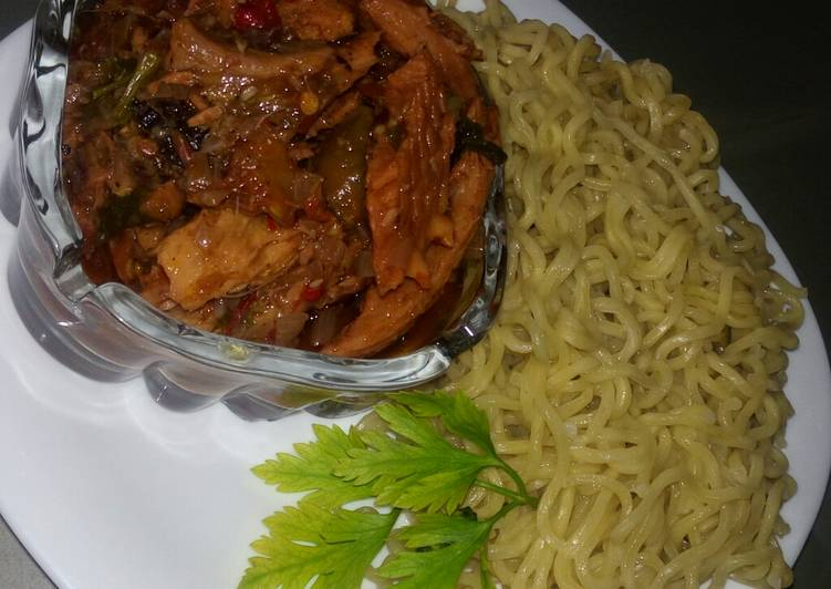 Easiest Way to Prepare Ultimate Plain indomie with fish sauce