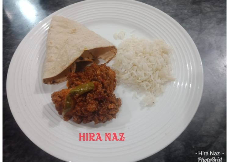 What is Dinner Easy Spring Bhoona Qeema With roti, Rice