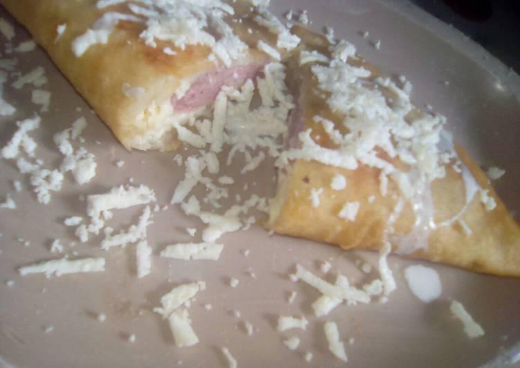 Empanada de queso con jamón