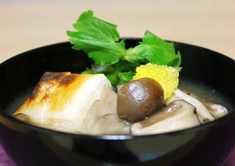Selecting The Best Foods May Help You Stay Fit And Healthy Mushrooms Galore! Easy Mushroom Soup with Mochi