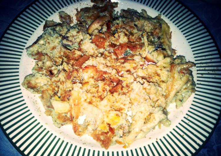 chicken with scrambled eggs