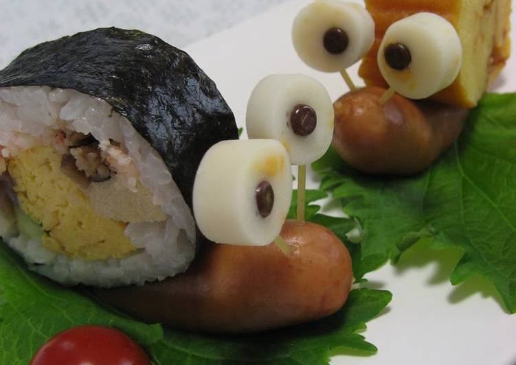 A Gathering of Snails Using Futomaki Sushi Rolls!