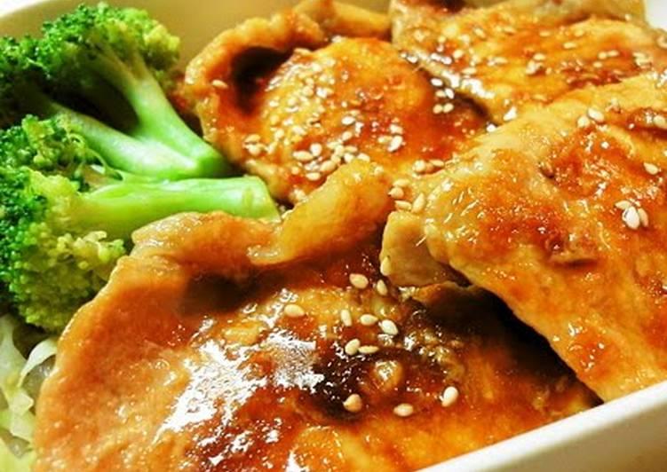 How to Prepare Any-night-of-the-week A Classic Shogayaki Pork Ginger Bento