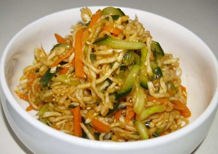 Spicy Korean Style Dried Shredded Daikon Salad - Laurie G Edwards