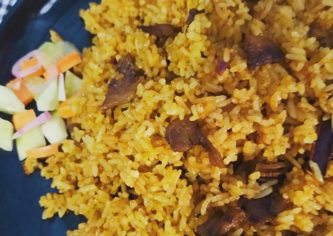 Cara buat Nasi goreng kambing Sederhana dan Mudah Dibuat
