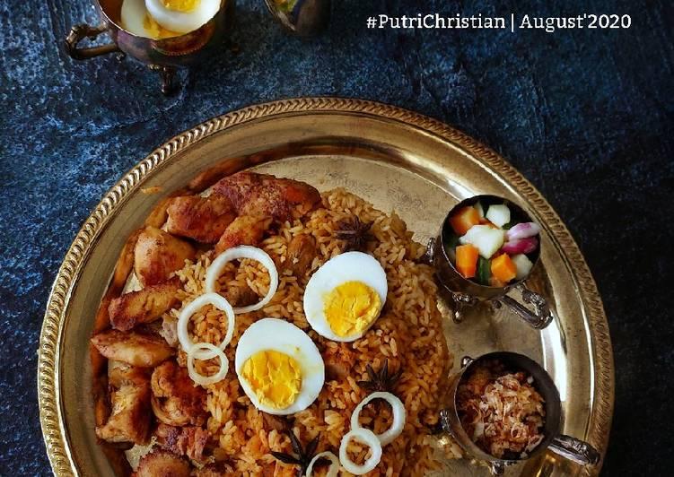 Nasi Kebuli Ayam mix Daging sapi