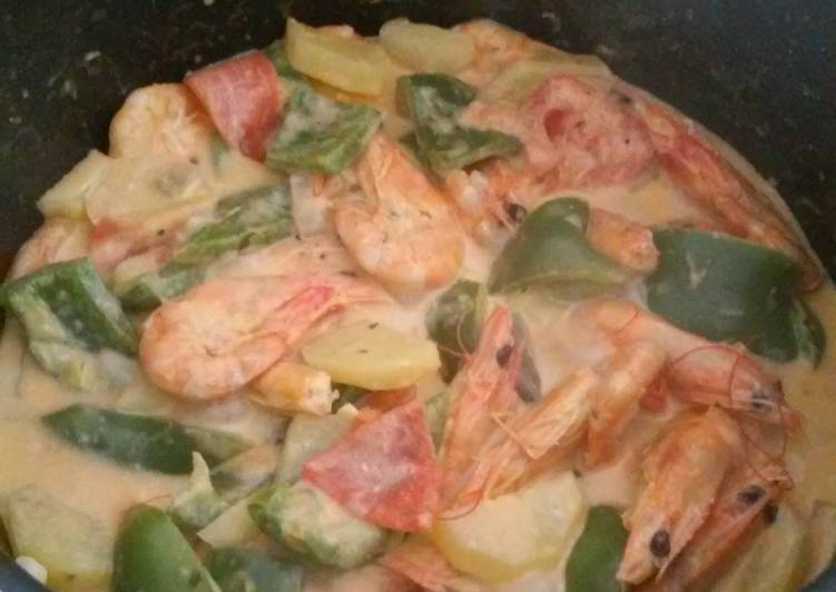 Old Fashioned Dinner Ideas Homemade Shrimp with coconut milk