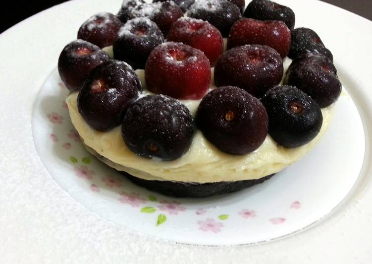 Easy Homemade Cherry With Mascapone On Oreo Crust Recipe