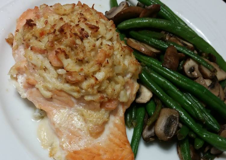 Recipe of Super Quick Homemade Stuffed Salmon w/ Crab and Shrimp