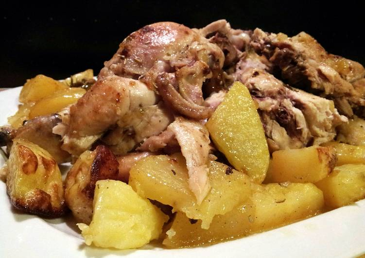 AMIEs Roasted CHICKEN with roasted POTATO