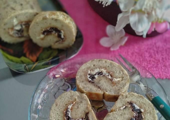 33.2~ Banana Chiffon Roll Cake *Gluten-free & Dairy-free