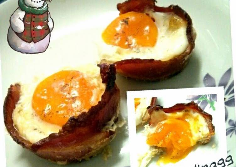 Easiest Way to Prepare Any-night-of-the-week bacon egg breakfast cup