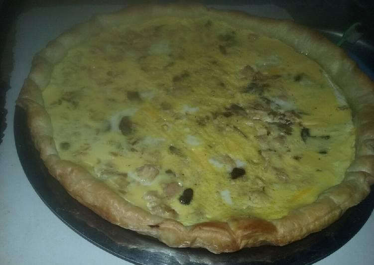 Quiche au fromage et au thon